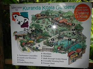 Kuranda Koala Gardens Map Sign
