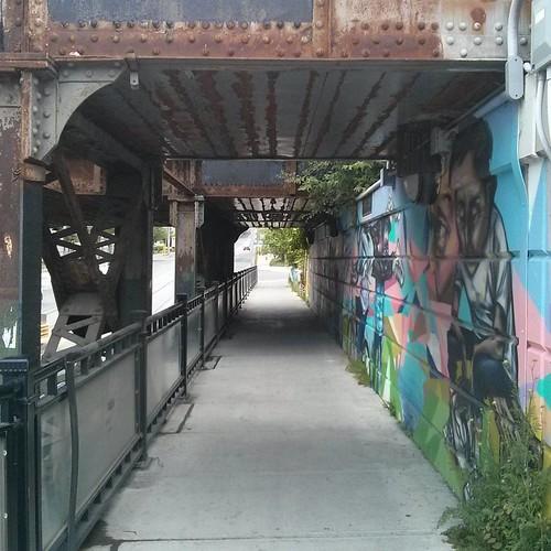 Heading under the bridge #toronto #rail #bridge #dupontstreet #bathurststreet