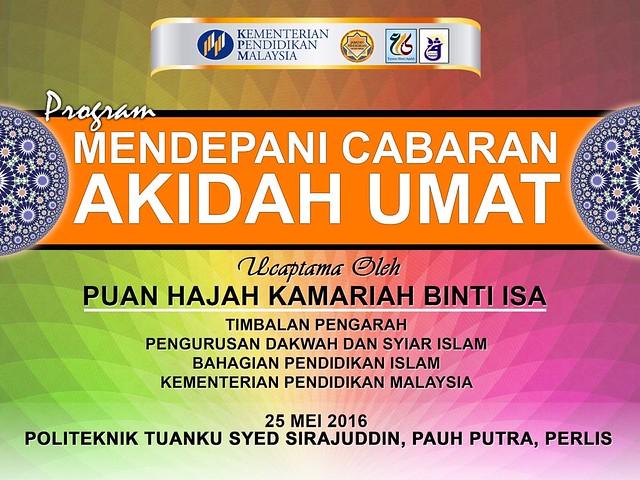 Program Mendepani Cabaran Akidah Umat 25 Mei 2016