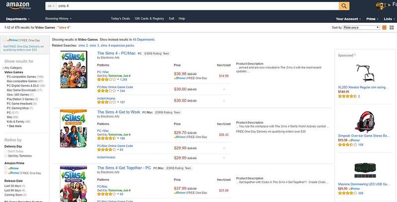 Amazon Sale Sims 4
