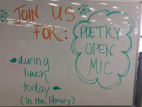 Poetry Open Mic event at the library