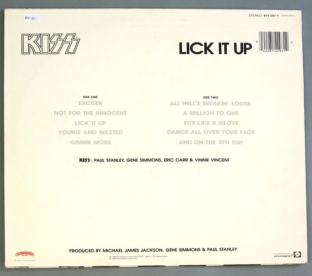 "KISS LICK IT UP ORIG HOLLAND 12"" LP VINYL"