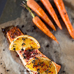Roasted Salmon with Oranges