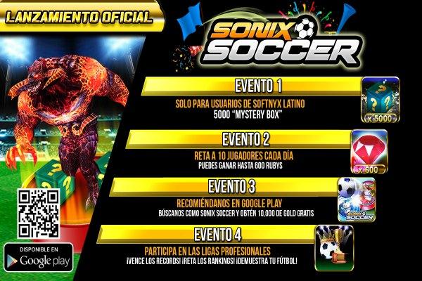 Lanzamiento oficial de Sonix Soccer