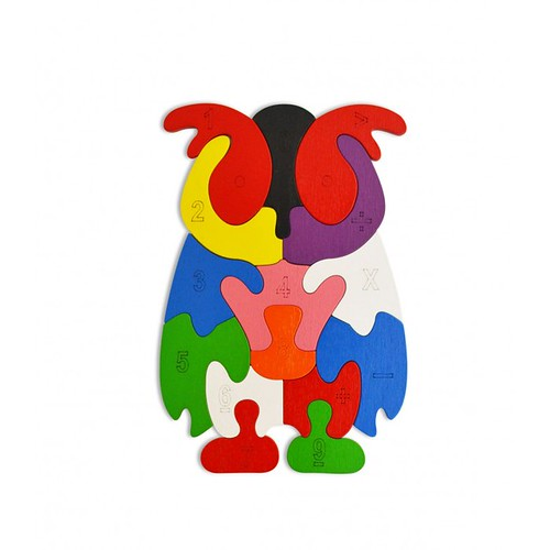 Lắp ghép đồ chơi gỗ - con chim cánh cụt
