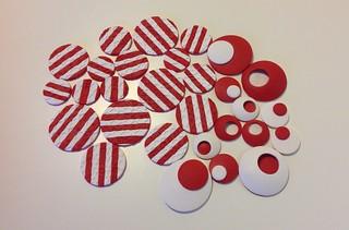 Red white circle study
