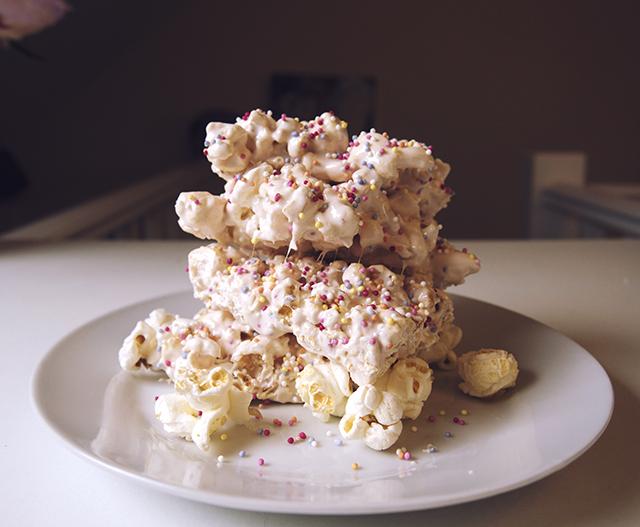 Propercorn gooey marshmallow popcorn sprinkle bars