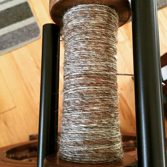 And just like that, one bobbin done. Spinning is so much more gratifying when you're not spinning lace weight. #tourdefleece #teamcatitude