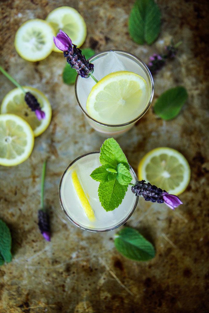 Honey Rum Mint Lemonade from HeatherChristo.com