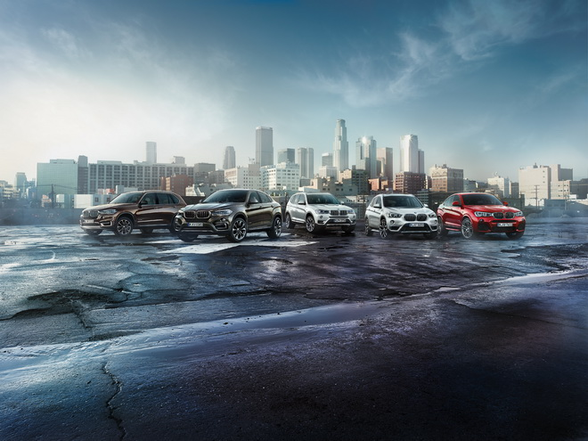 [新聞照片] BMW X系列:由左至右為BMW X5、X6、X3、X1、X4
