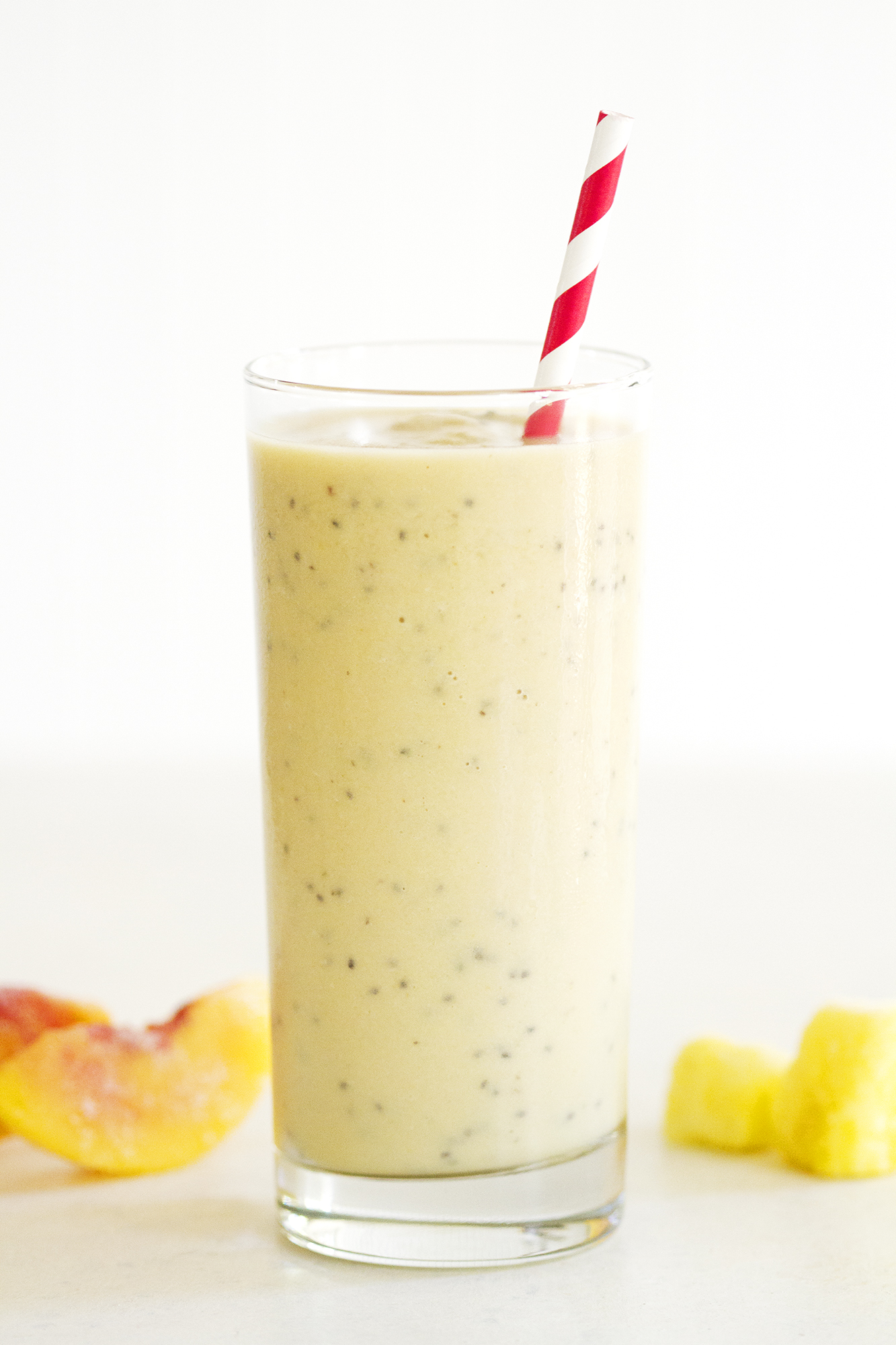 Peach Pineapple Chai Smoothie | girlversusdough.com @girlversusdough