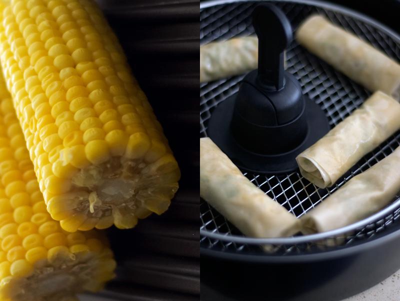 Rolinhos de sapateira e milho