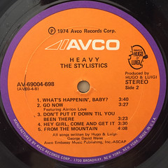 THE STYLISTICS:HEAVY(LABEL SIDE-B)