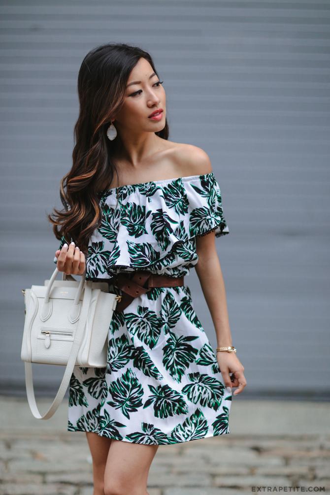 summer date outfit baublebar earrings white celine nano bag