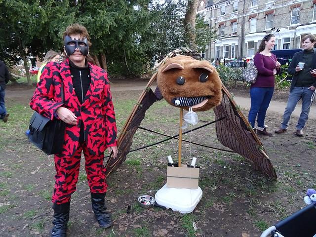 photo of Alison Fure in bat costume