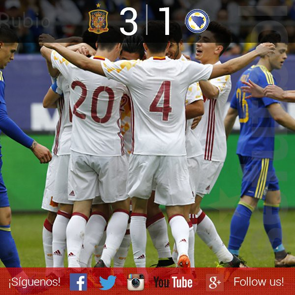 Amistoso: España 3 - Bosnia 1