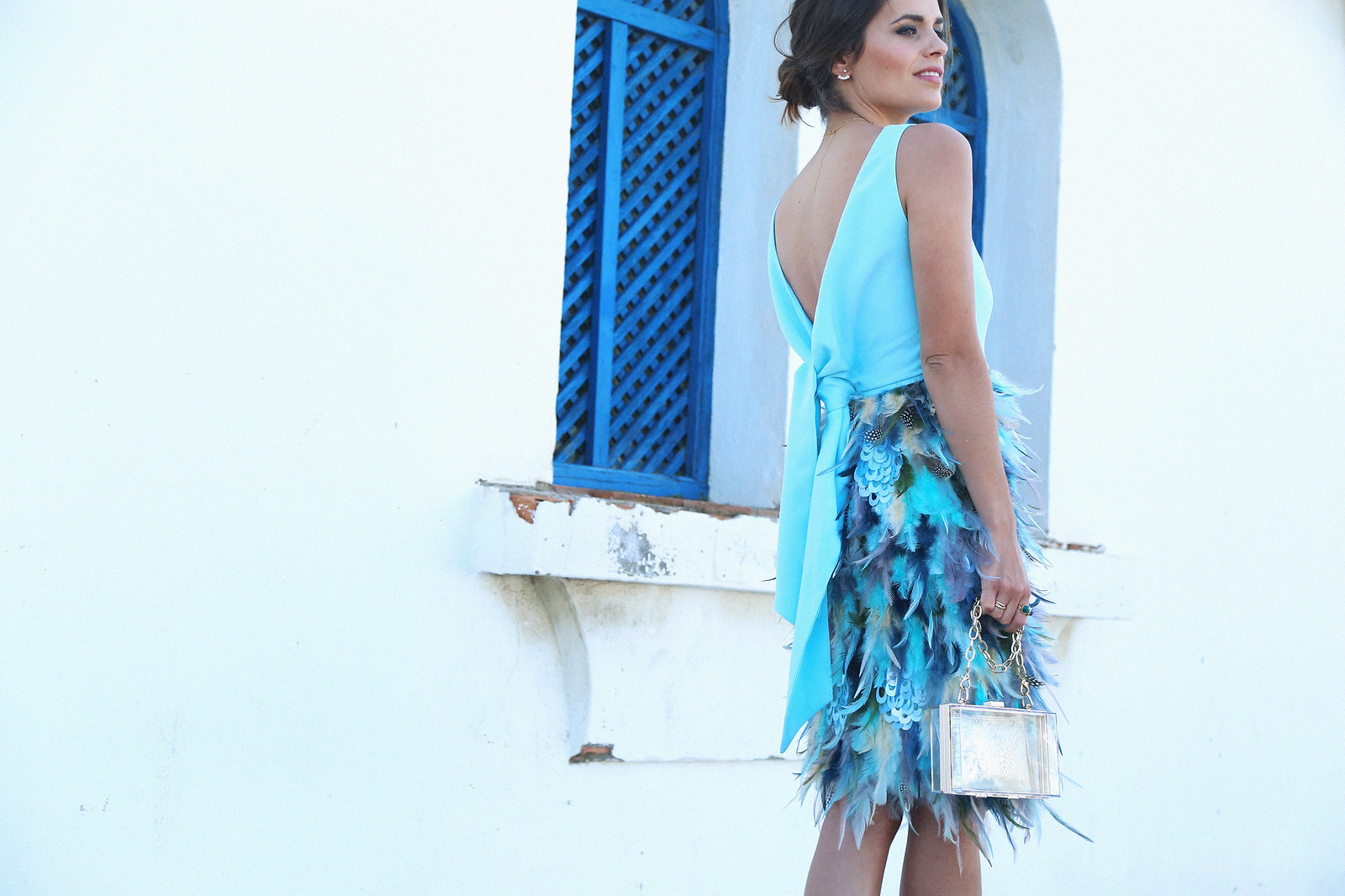 blue feathers cocktail dress | Seams for a desire | Bloglovin'