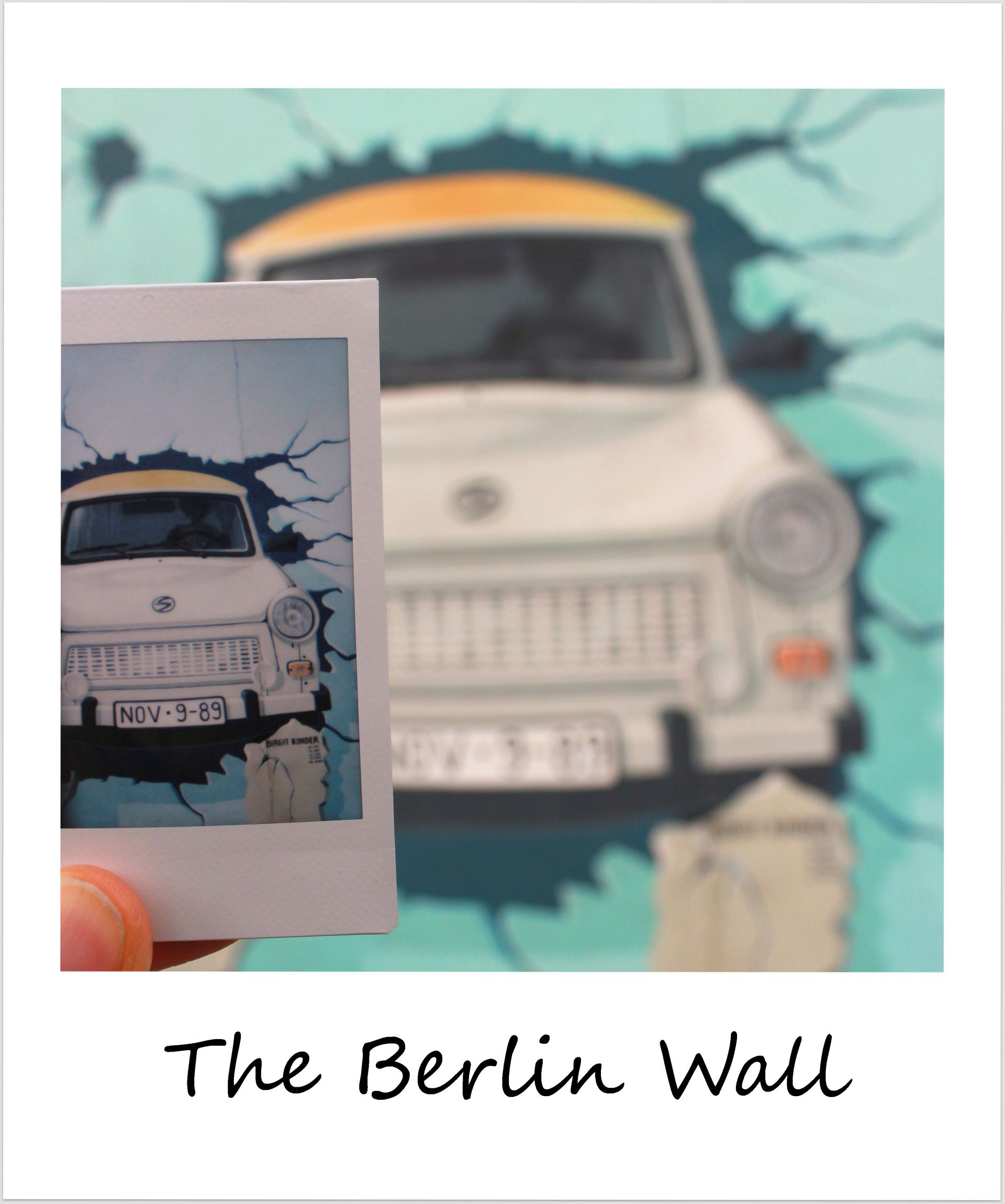 polaroid of the week berlin wall