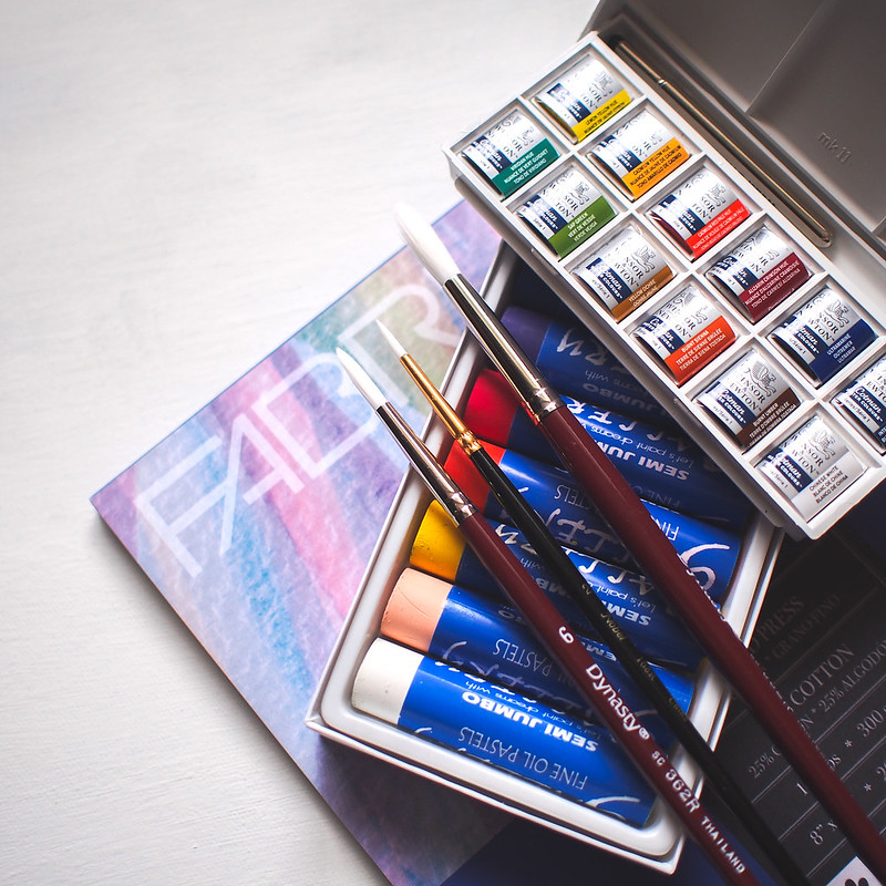 Art Supplies Modern Watercolor