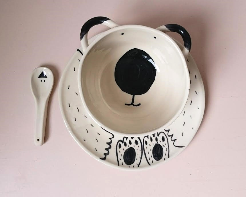 bear plate&bowl