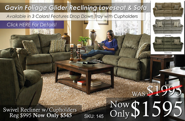 Gavin Foliage Reclining Living Set
