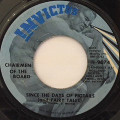 CHAIRMEN OF THE BOARD:GIVE ME JUST A LITTLE MORE TIME(LABEL SIDE-B)