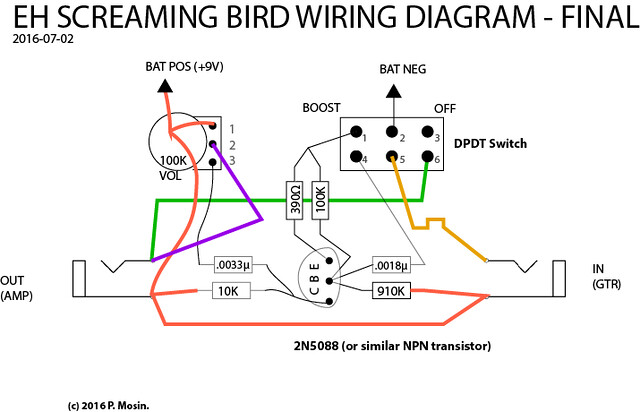 SOLVED: my EH Screaming Bird wiring problem on