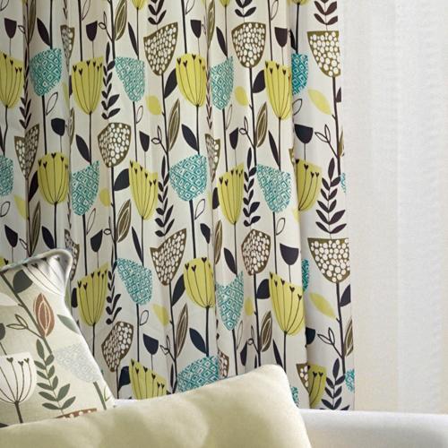 趣豆盆葉(獨家) 生動趣味花葉 防光(遮光)窗簾布 DA1290152
