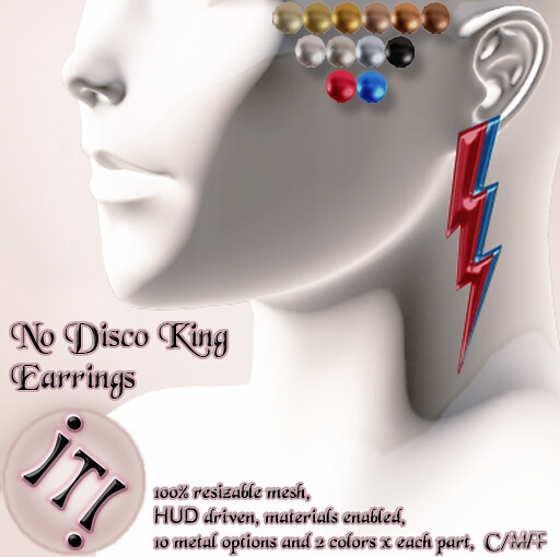 !IT! - No Disco King Earrings Image