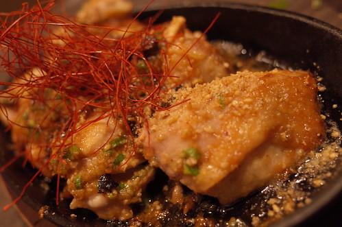 grilled garlic chicken 吟醸にんにくダレのもも焼きグリル