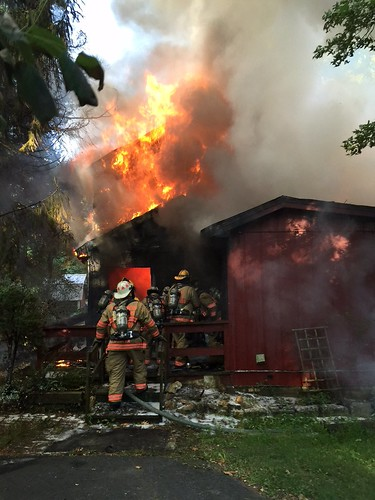 various photos from scene of house fire