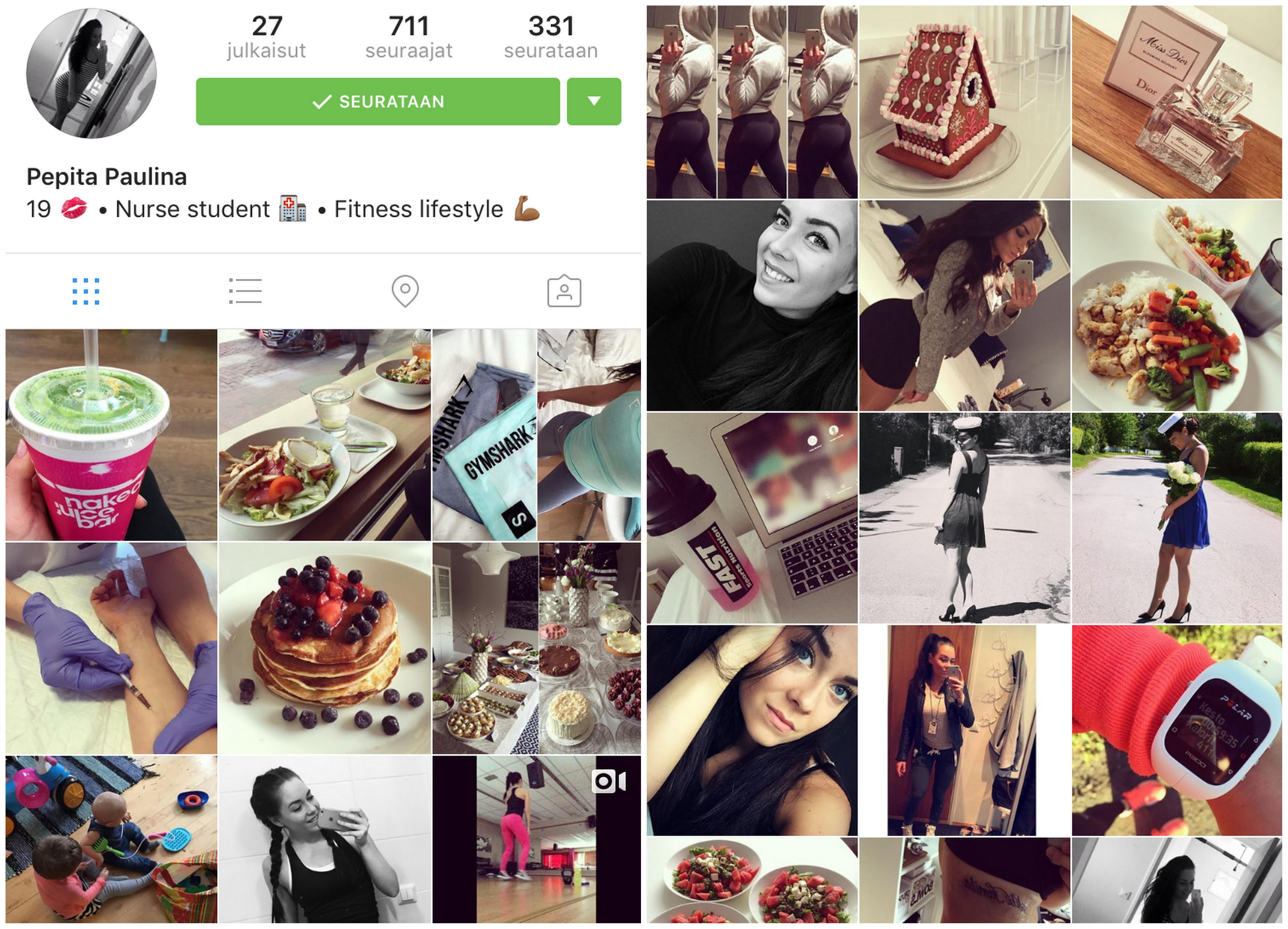 Instagram selfies