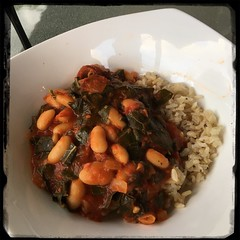 #Portugese #Collards and #Beans  #Homemade #CucinaDelloZio - w/brown rice