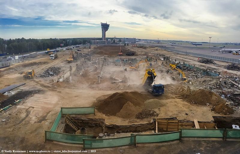 New Sheremetyevo Terminal B construction site