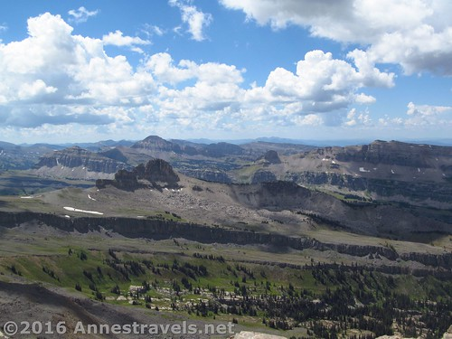 Views to the south from Table Mountain, Jedediah Smith Wilderness / Grand Teton National Park, Wyoming