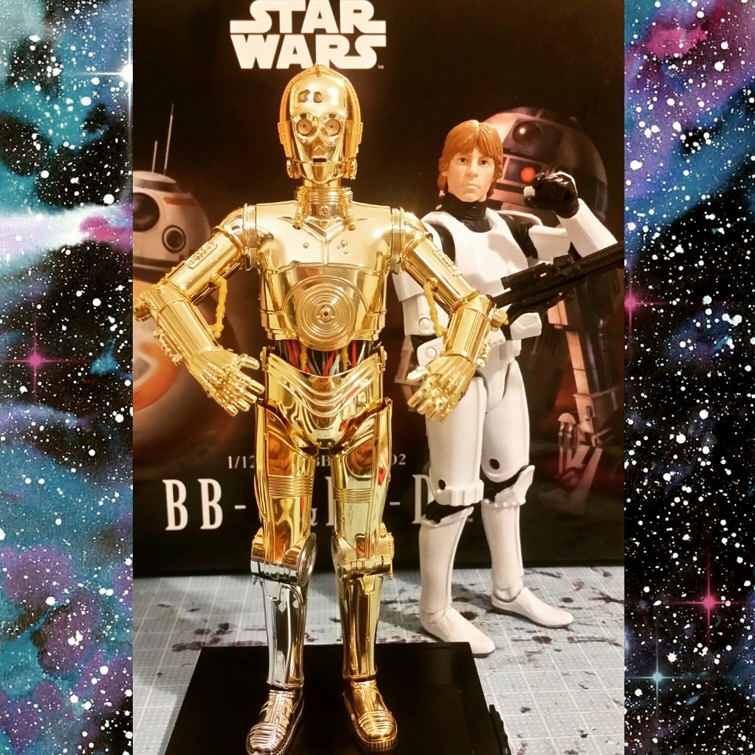 Dear #hasbro if you're not gonna make a #c3p0 #threepio as awesome as the one #bandai gave us, then I'd say to you....don't bother!  #bandaiplasticmodelkits #sixinchscale #starwars #starwarsfanboysmalaysia