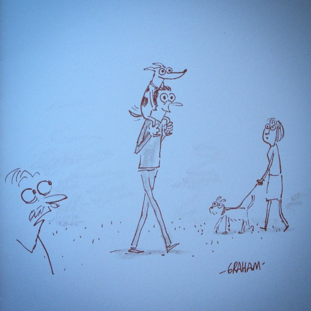 Daniel was a different kind of dog owner. #grickledoodle