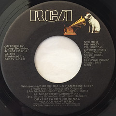 DR. BUZZARD'S ORIGINAL SAVANNAH BAND:CHERCHEZ LA FEMME(LABEL SIDE-A)