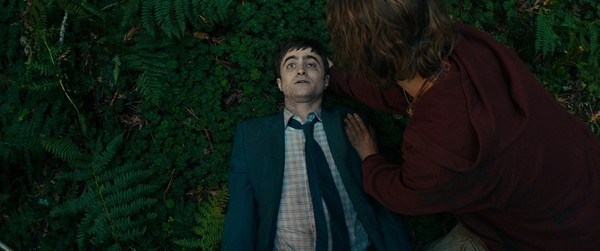 Paul Dano (R) uses Daniel Radcliffe as a SWISS ARMY MAN.