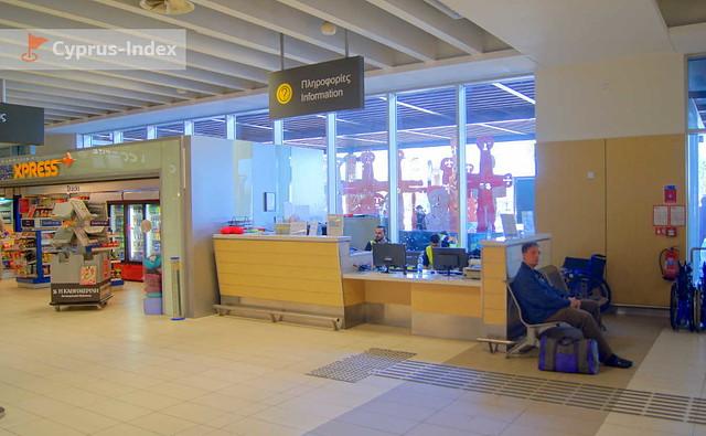 Информационная служба и отдел для экспресс покупок, Аэропорт Пафос, Кипр