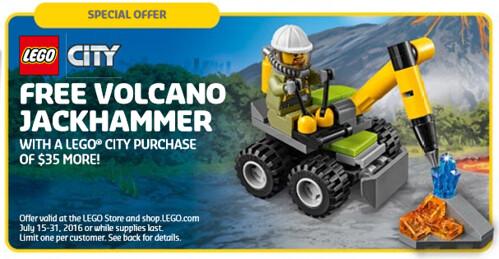 LEGO City Volcano Jackhammer