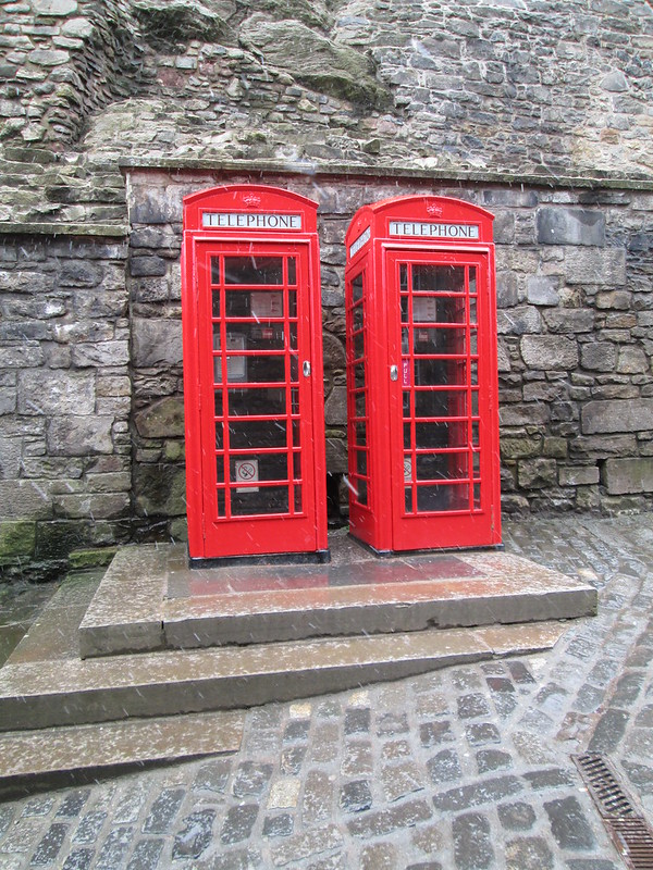 Edinburgh Castle Red Telephone Booth
