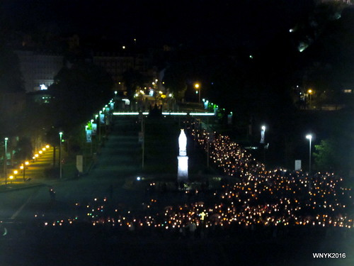 Torchlight Marian Procession in the Rain I