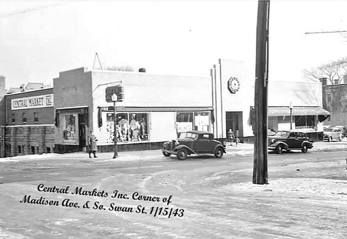 central market corner of madison ave and so. swan st  1943  albany ny 1940s