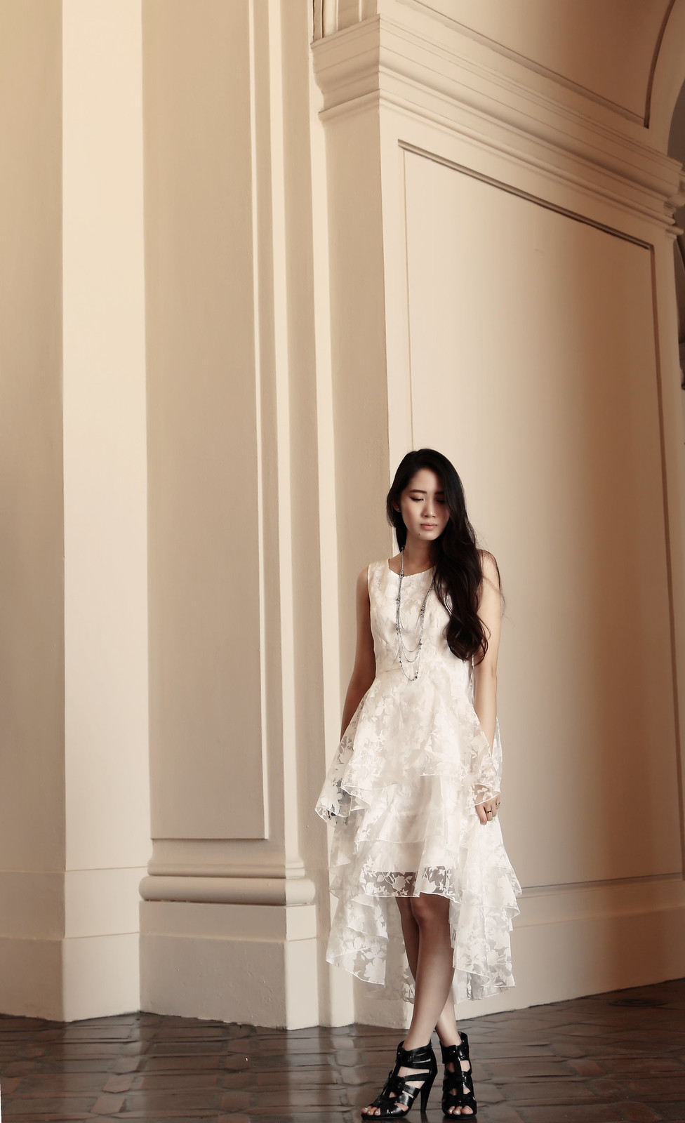 0230-modern-white-romance-midi-dress-chiffon-elegant-romantic-summer-korean-fashion