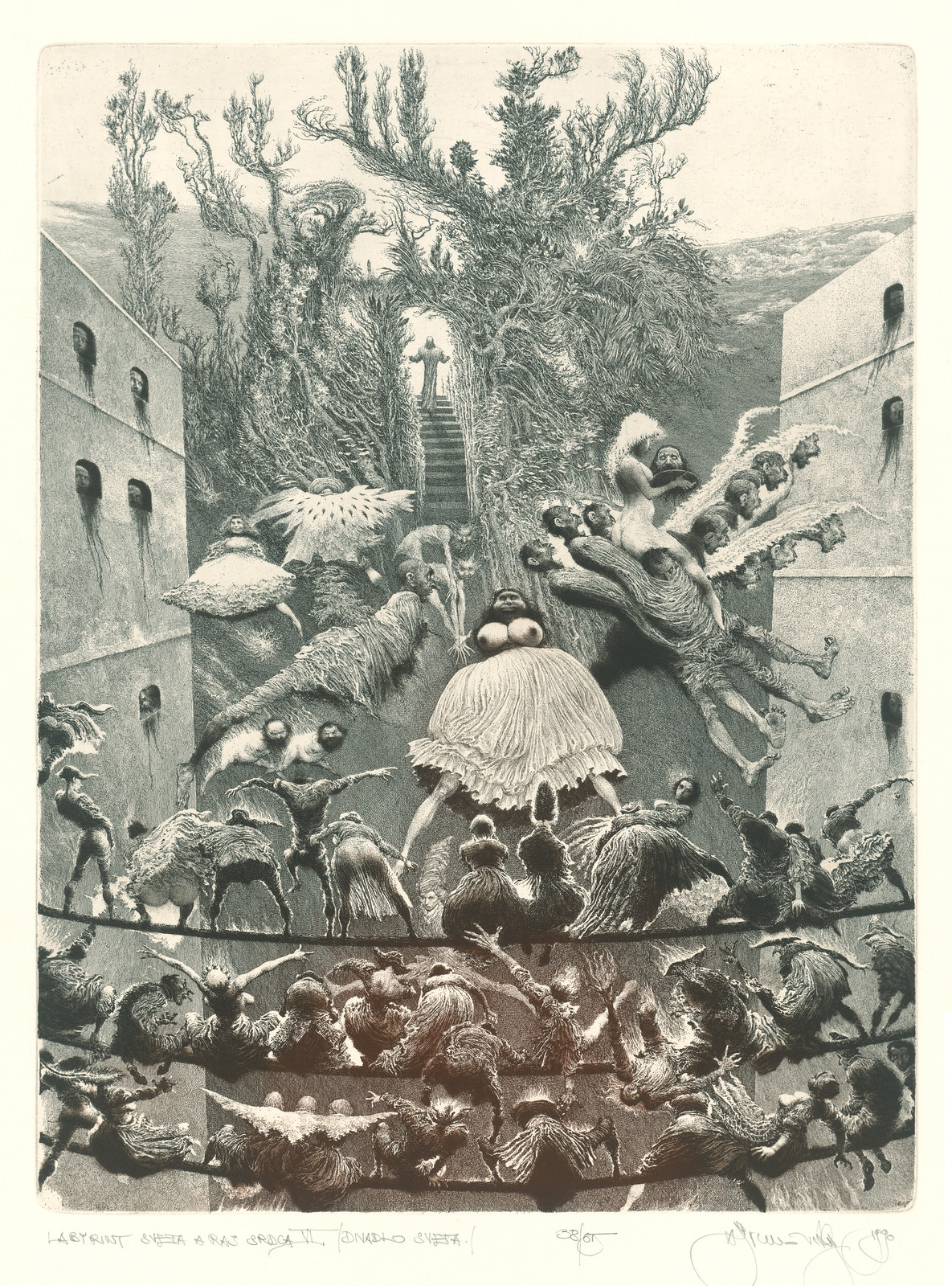 Albin Brunovsky - Labyrinth of the World and Eden of the Heart VI . - Theatre World, 1990