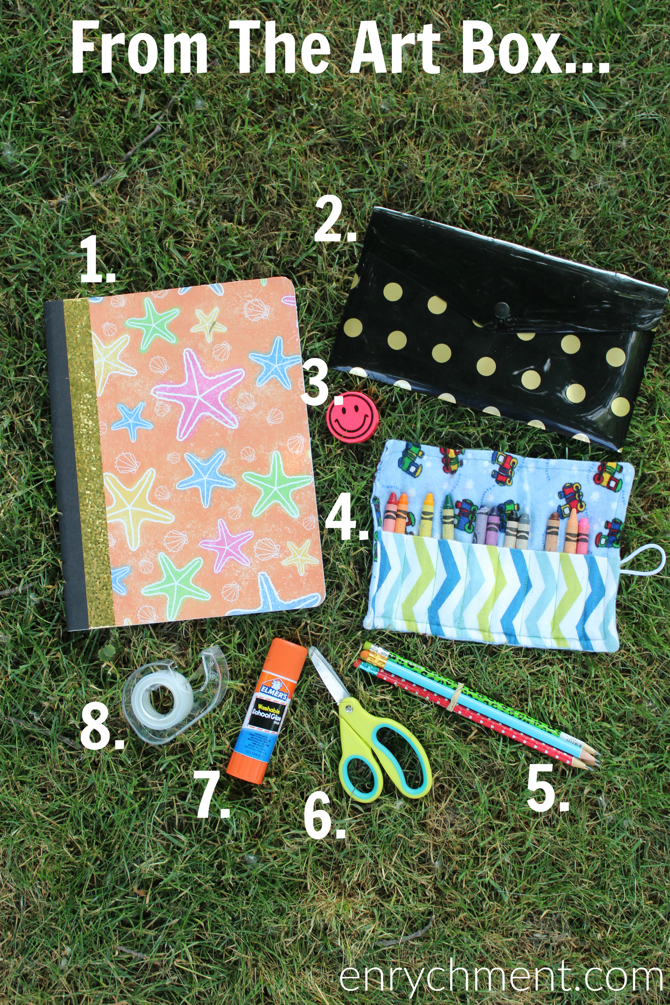 Arts & Crafts supplies to keep in your summer bag