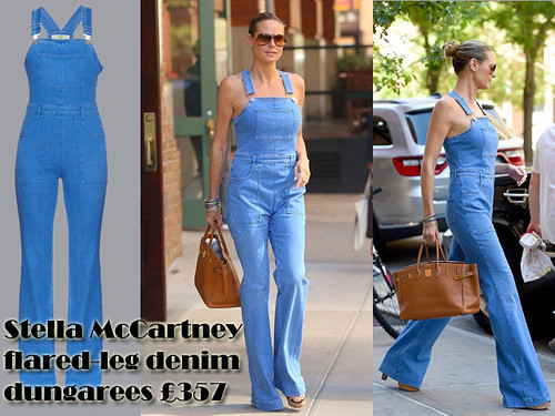 Flared denim dungarees: How to wear