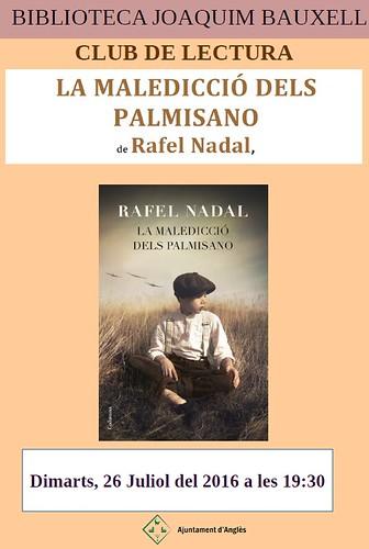 Cartell Rafel Nadal club de lectura