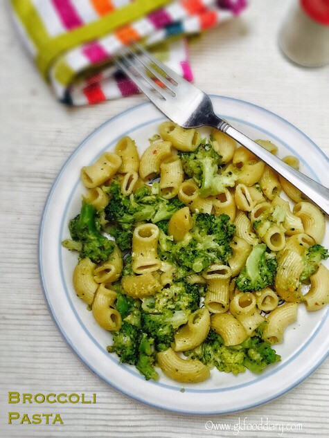 Broccoli Pasta Recipe for Babies, Toddlers and Kids2